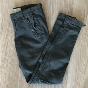 Zara Khaki Green Jeans